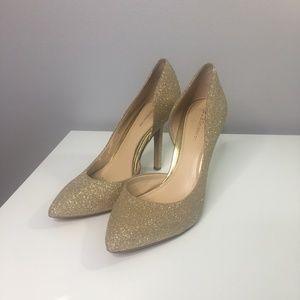 BCBGeneration Gold Glitter Heels